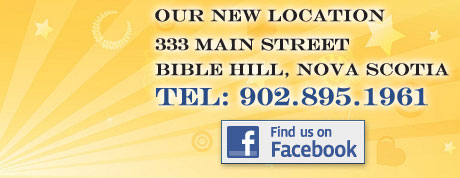 333 Main Street, Bible Hill, Nova Scotia | Tel: 902.895.1961 - Find Us on Facebook
